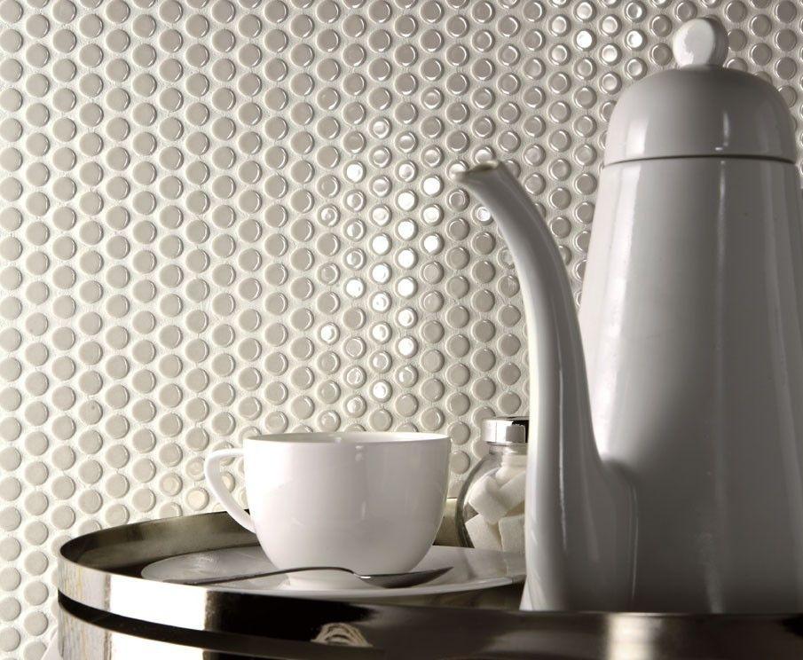 Piastrelle cucina design - Piastrelle a pois tono su tono