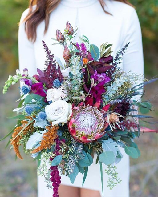 Jewel Tone Wedding Flowers: This Bouquet Is Giving Us So Much Inspiration For A Boho