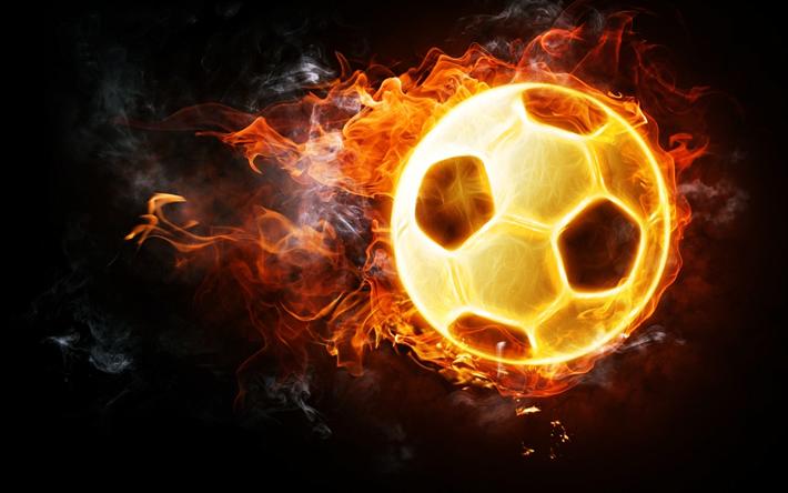 Balones De Fútbol Deportes Fondos De Pantalla Gratis: Descargar Fondos De Pantalla La Quema De Un Balón De