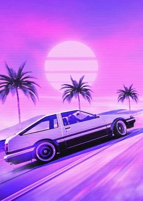 Synthwave Automotive Poster