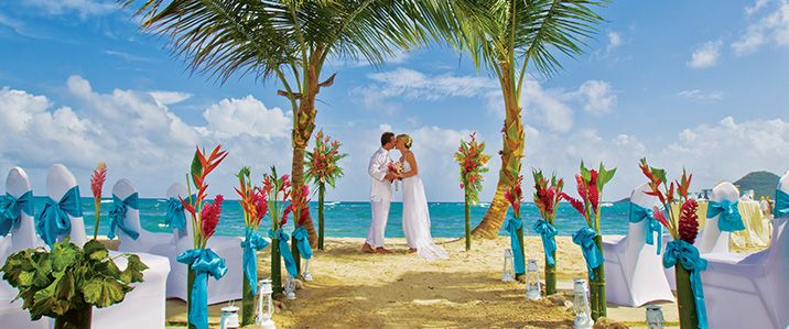 All Inclusive Destination Weddings Coconut Bay St Lucia Beach Resort Spa