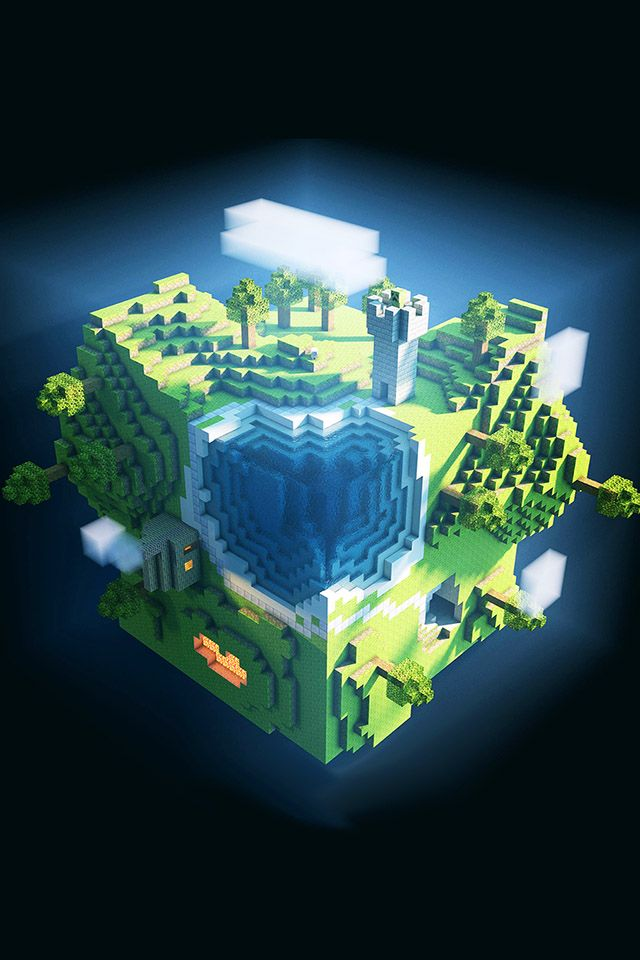 minecraft parallax HD iPhone iPad wallpaper Arte de