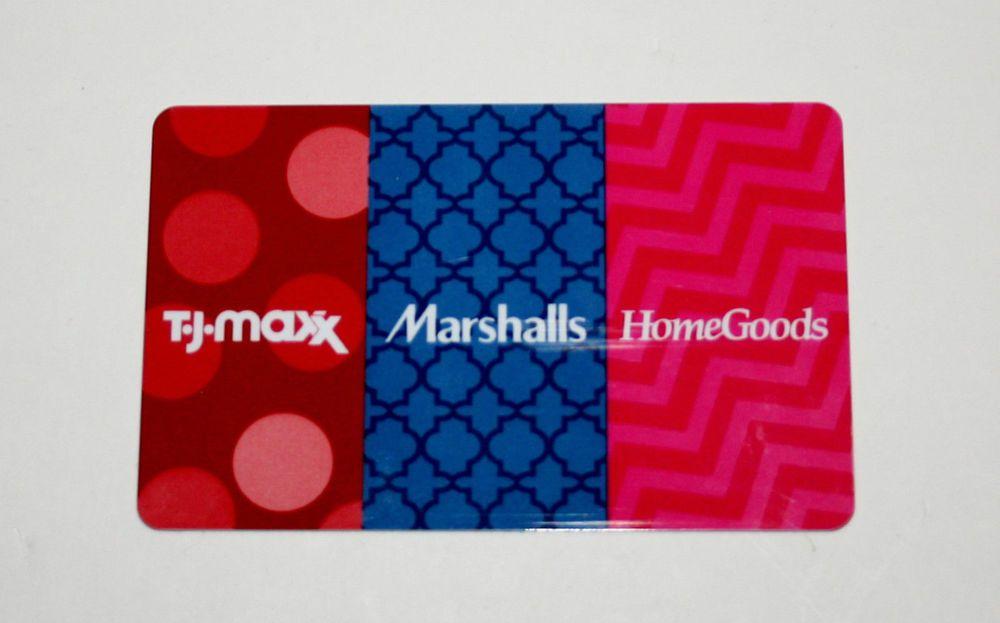 Tj maxx marshalls home goods gift card 20642 free
