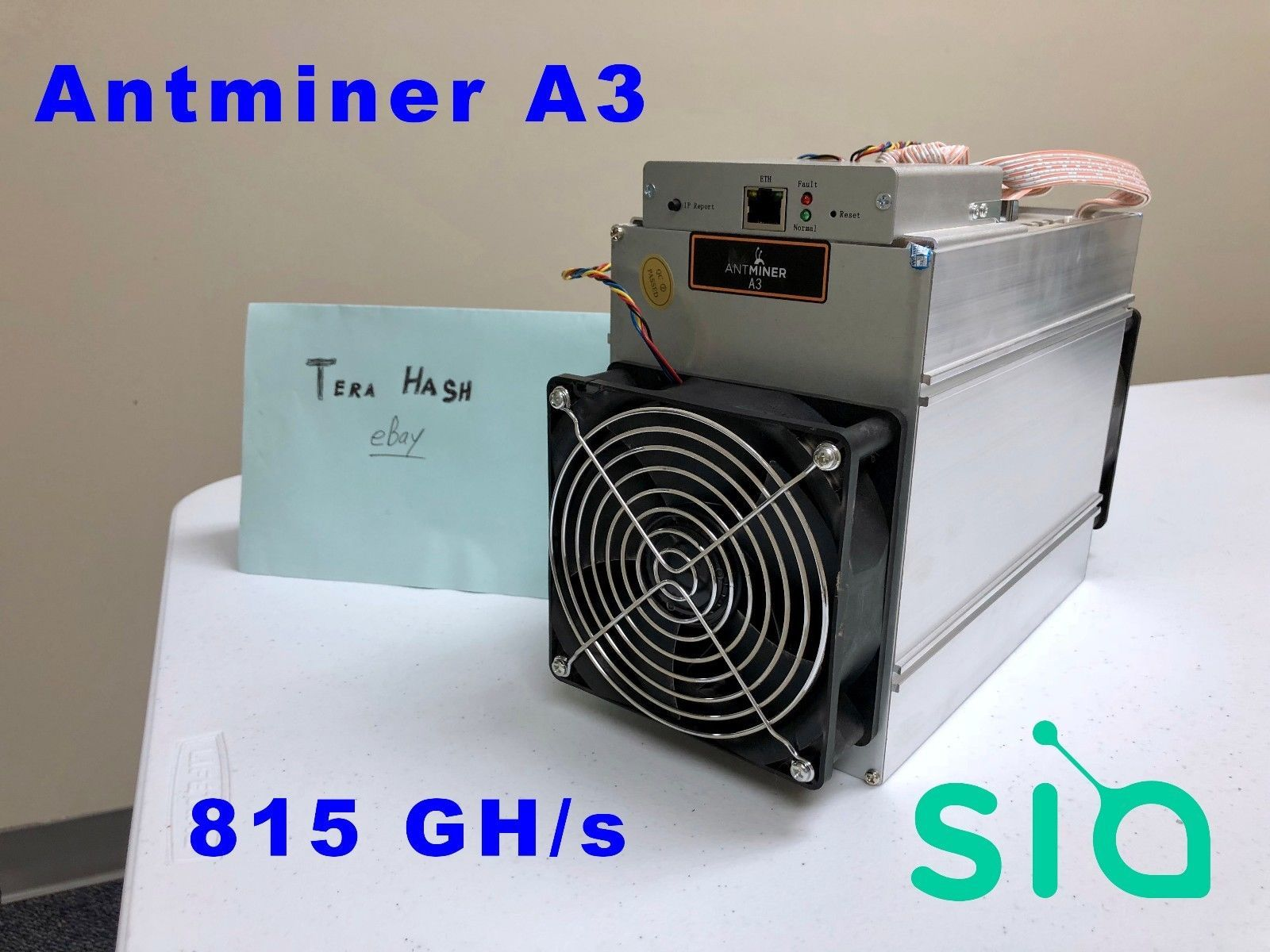 Bitmain Antminer A3 IN-HAND WITH PSU Blake2b 815GH ASIC Siacoin