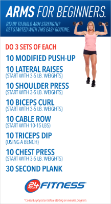 pin24 hour fitness on workout routines  arm workout