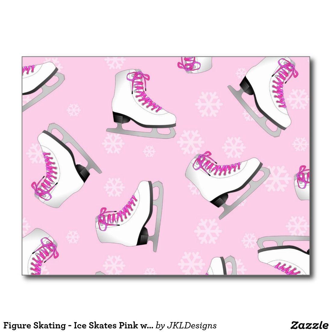 Pink Ice Skate colgante en madera cuentas encanto patinaje artístico sobre hielo de coche