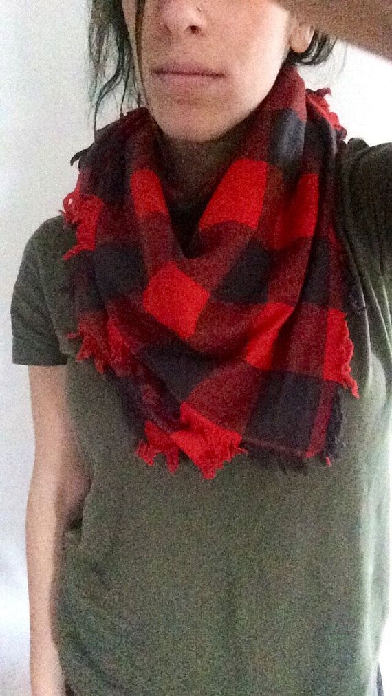 Hey, I found this really awesome Etsy listing at https://www.etsy.com/listing/267096474/buffalo-plaid-scarf