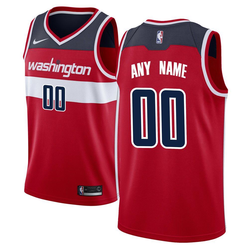 f91bd12aacc5 Men s Washington Wizards Nike Red Swingman Custom Jersey - Icon Edition