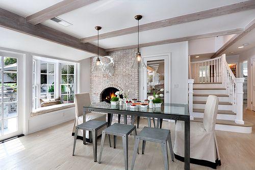 fireplace exposed brick color design very light wood floors grey brown color scheme exposed. Black Bedroom Furniture Sets. Home Design Ideas