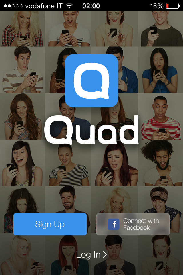 quad signup login screen ui ux design pinterest ui ux design