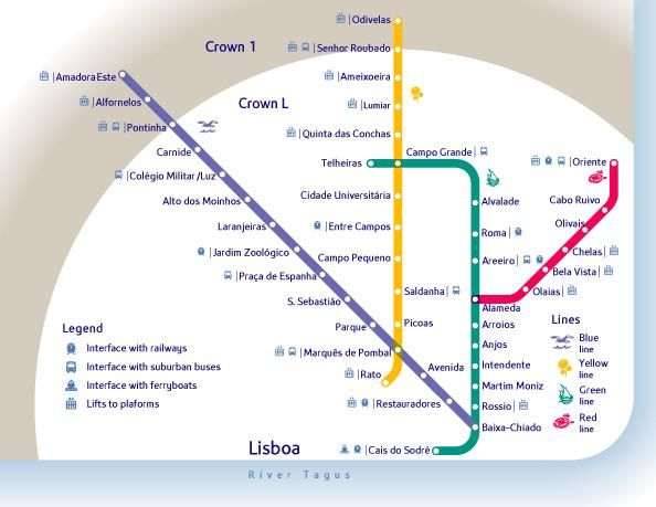 Mapa Da Rede Do Metro De Lisboa Portugal Places To Go - Portugal map metro