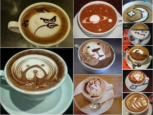 Really cool cappuccino art