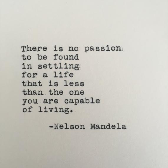 Nelson Mandela Life Quote Typed on Typewriter