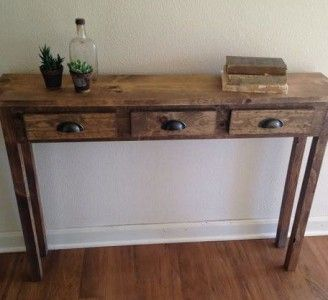 Small Rustic Foyer Table