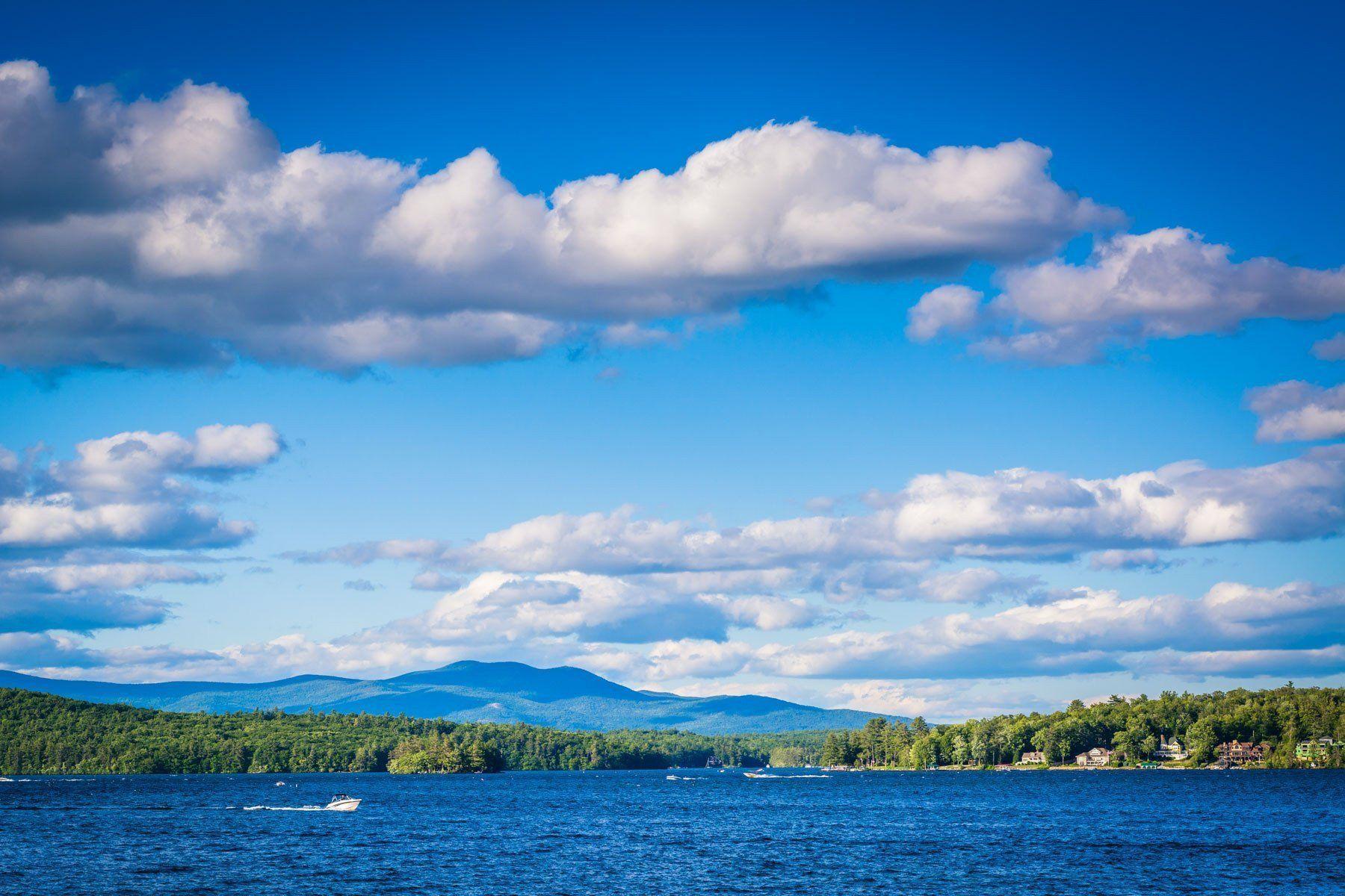 Mountain Ranges And Lake Winnipesaukee In Weirs Beach Laconia New Hampshire Lake Winnipesaukee Winnipesaukee Laconia