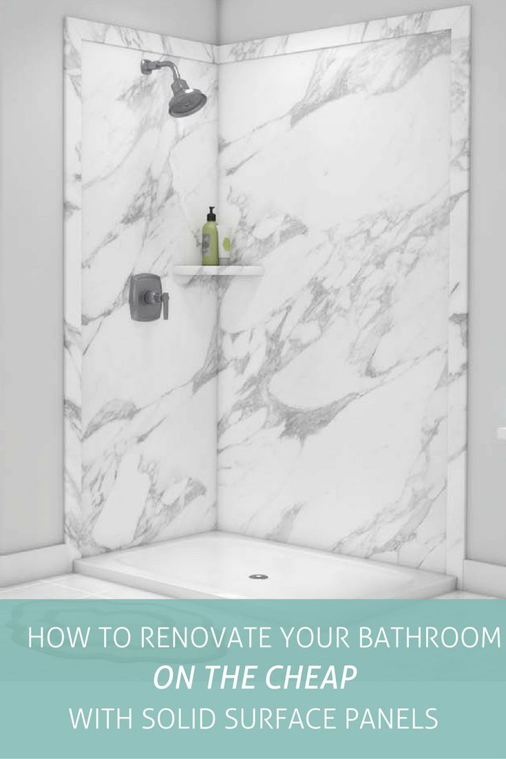 Renovate Your Bathroom On A Budget Solid Surface Shower Wall Panels - Renovate your bathroom on a budget