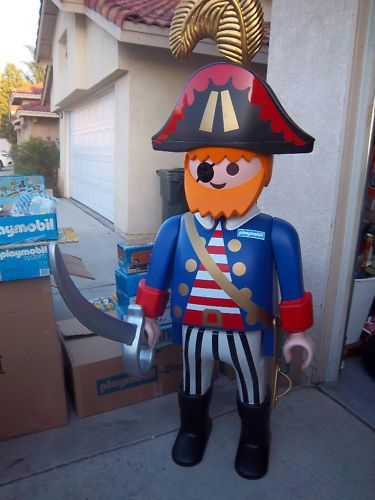 Life size Playmobil 5' Pirate. This would be great in the playroom! If only it were $500 and could be mailed. SIGH!