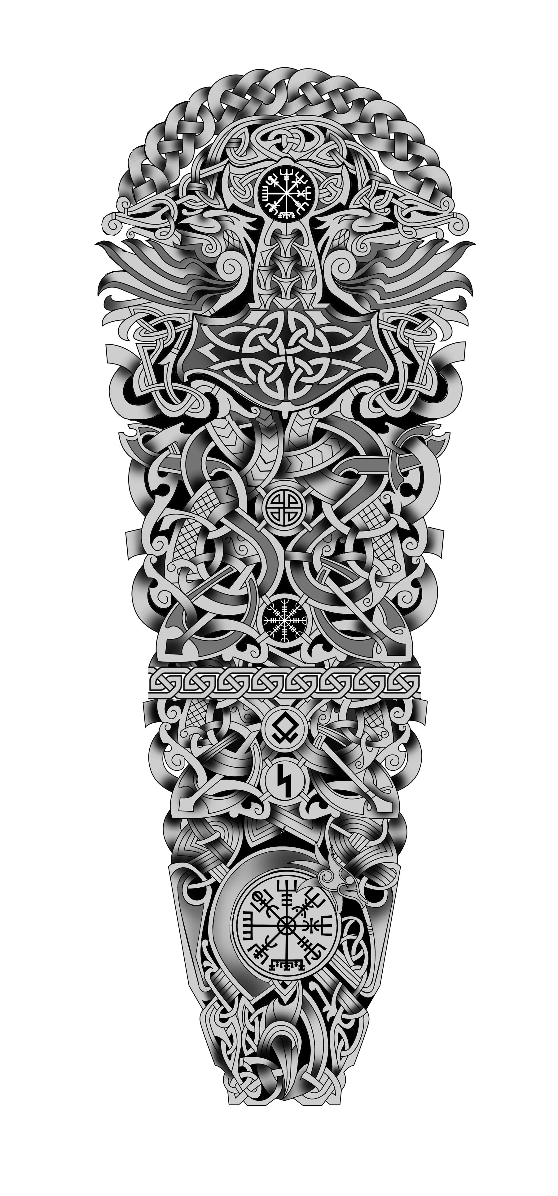 100 Nordic Viking Celtic Full Sleeve Tattoo Design Designer Andrija Protic Full Sleeve Tattoo Design Celtic Sleeve Tattoos Tattoo Sleeve Designs
