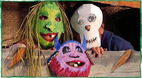 halloween masken basteln kinder. Black Bedroom Furniture Sets. Home Design Ideas