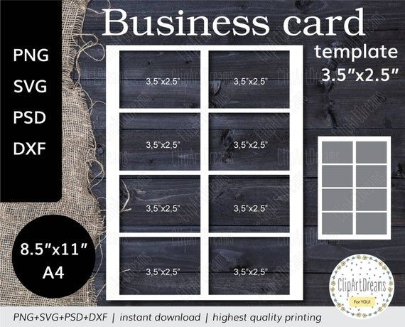 3 5x2 5 Business Card Template Mighty Instant Etsy Business Card Template Digital Svg Card Template