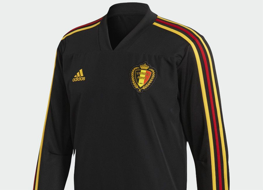 e60619cd0  football  soccer  futbol  adidasfootball Belgium 2018 World Cup Adidas  Training Top - Black   Bold Gold