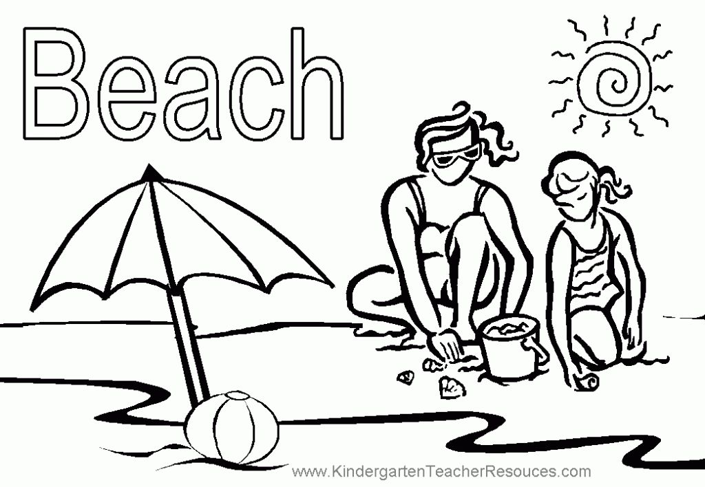 Online Beach Free Printable Coloring Page | Fun Coloring Pages ...