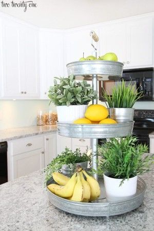 Decorating Kitchen Counters Organizing Kitchen Counters Kitchen Counter Storage Fruit Kitchen Decor & 20 Great Kitchen Decorating Ideas for Styling + Staging | bathroom ...
