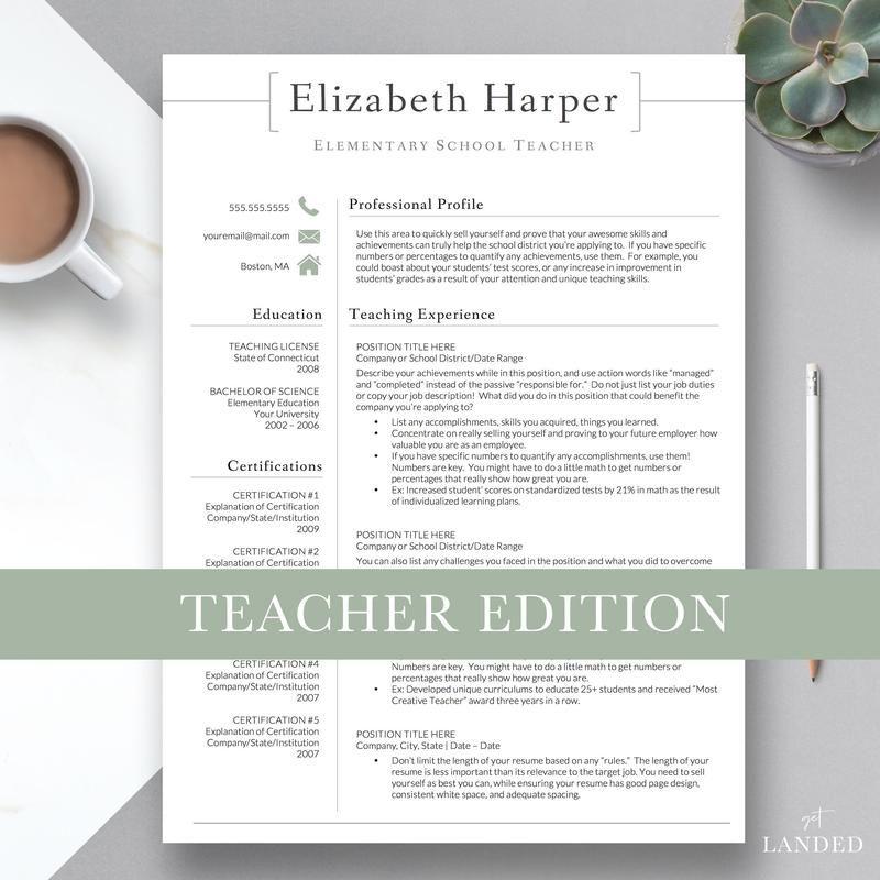 Get landed professional resume template designs resume