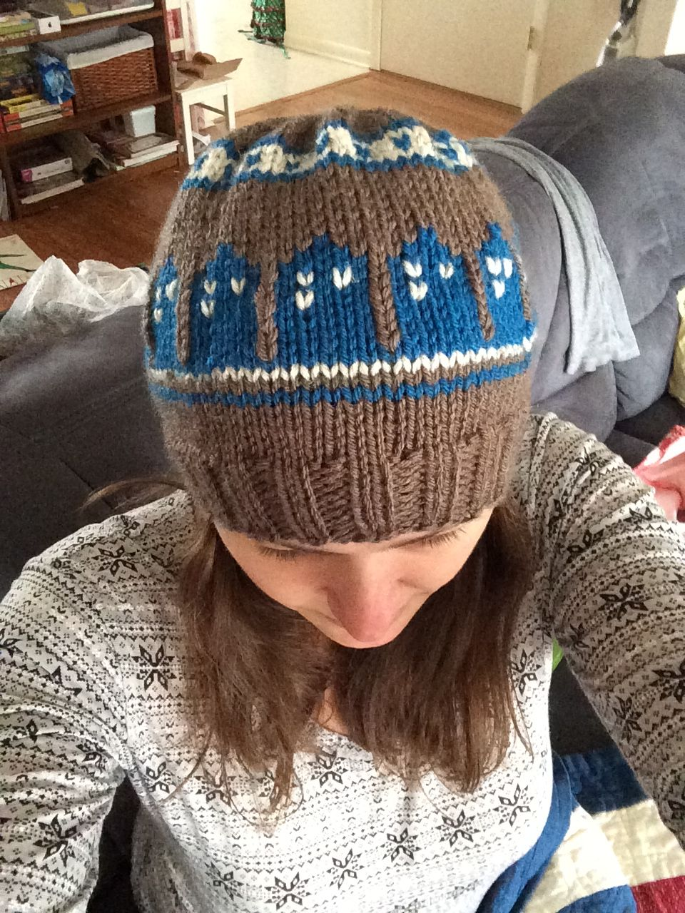 T.A.R.D.I.S. Doctor Who Knit Slouchy Beanie pattern by Shawna Snyder