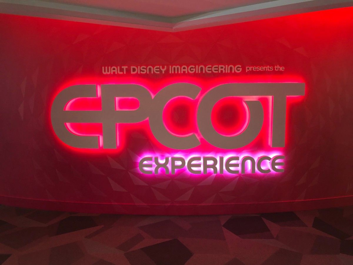 Photos Video Tour The New Walt Disney Imagineering Presents The Epcot Experience Exhibit At The Odyssey Walt Disney Imagineering Disney Imagineering Epcot