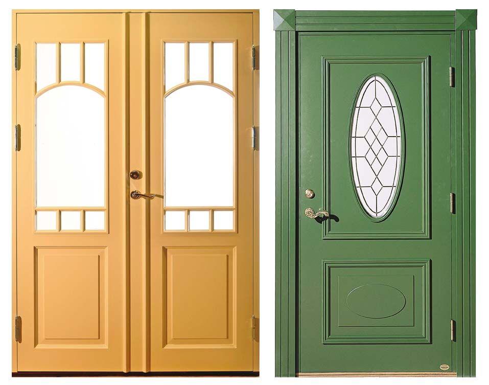 Om man vill anknyta till jugendstilen kan man välja en klassisk dörr med någon rundad eller böljande form