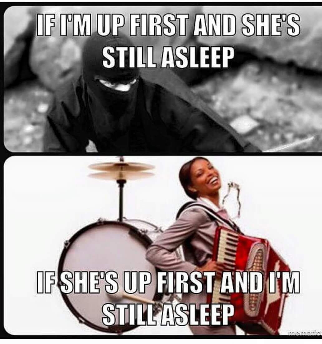 If im up and she still sleeping meme