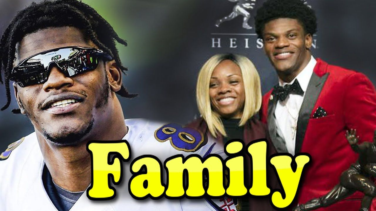 Lamar Jackson Family With Mother And Girlfriend Jaime Taylor 2020 In 2020 Lamar Jackson Jackson Family Jackson