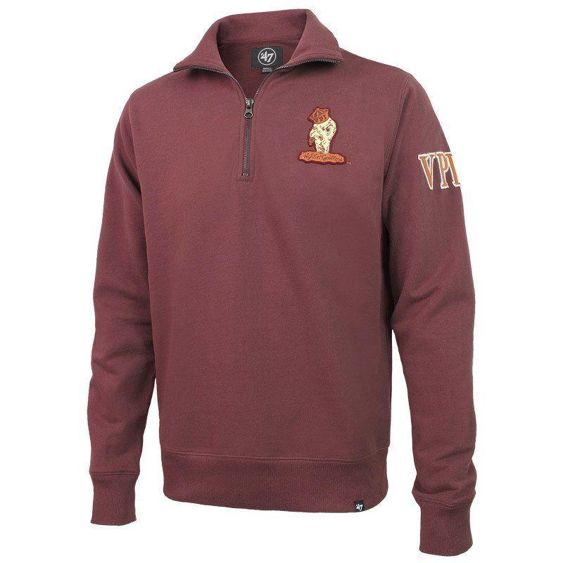 899efcbf7 Virginia Tech Retro VPI Gobbler Quarter-Zip Sweatshirt by 47 Brand ...