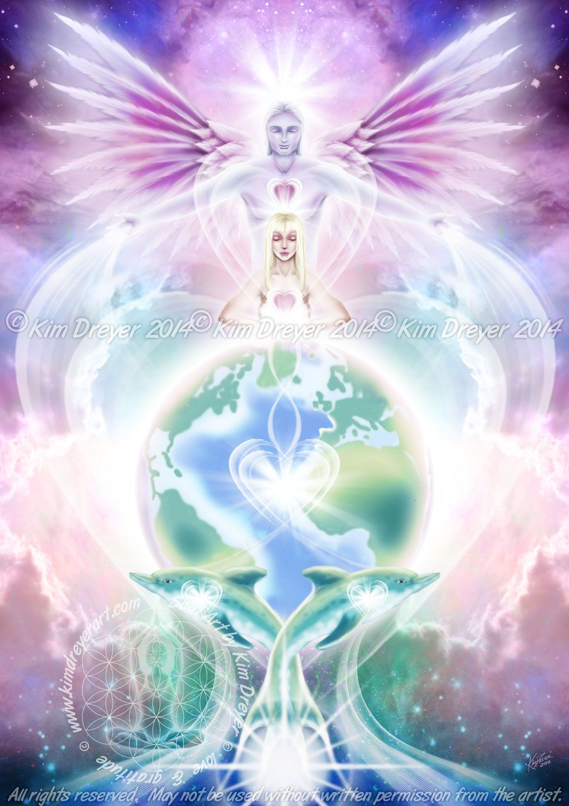 Universal Heart | Sacred Լight ಌ Kim Dreyer | Angel, Heart ...