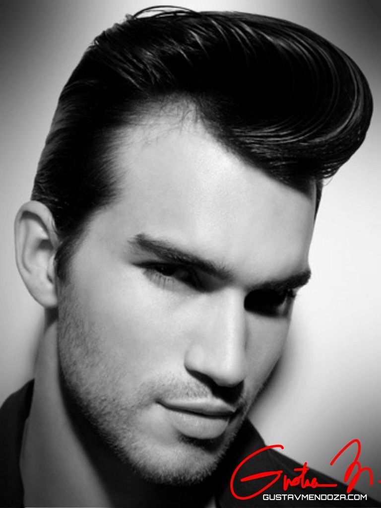 Gustav Mendoza The Best Hair Stylist In Seattle Gives You The Black White Style Collection For Mens Hairstyles Pompadour 1950s Hairstyles Pompadour Hairstyle