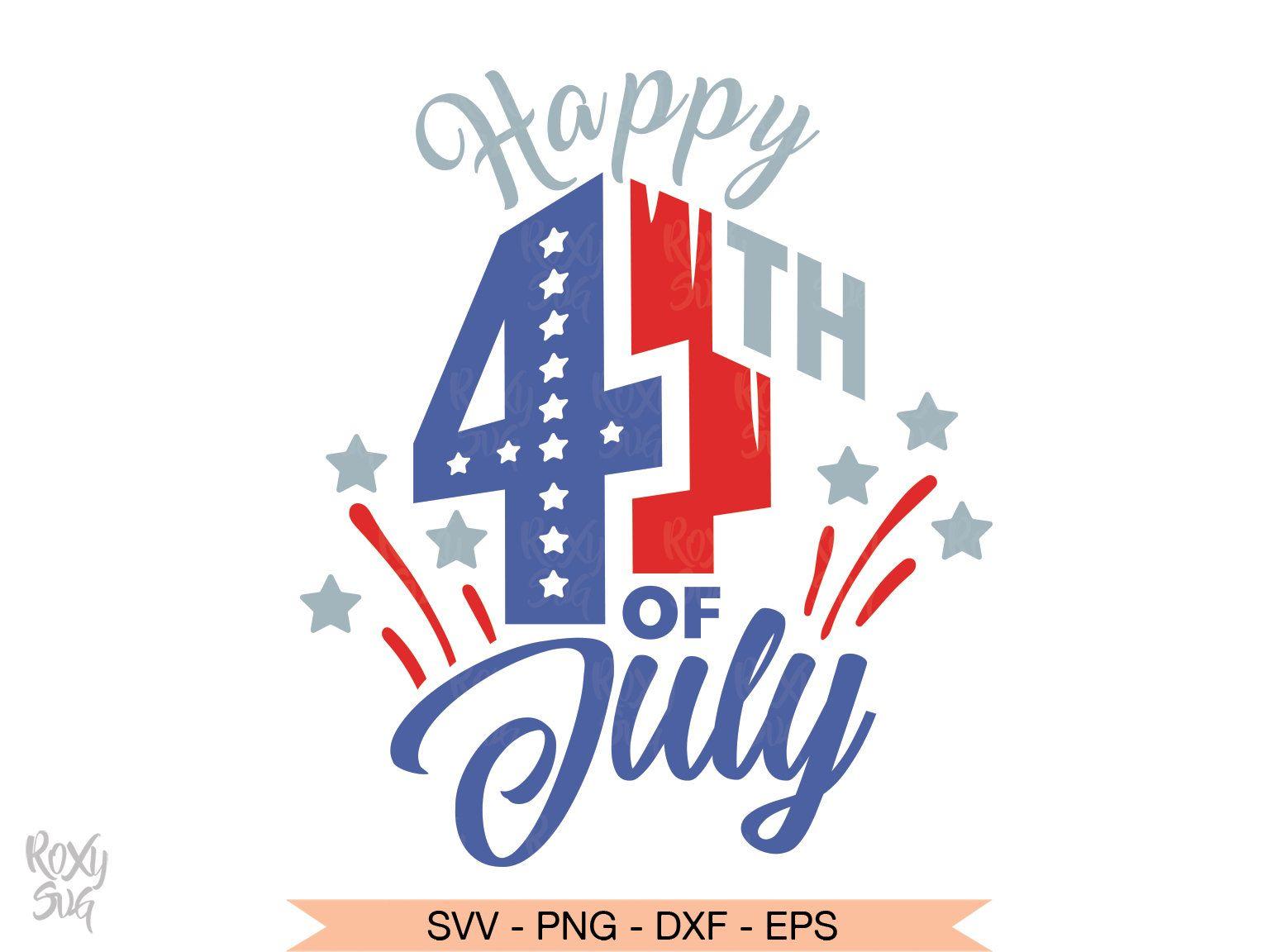 Happy 4th Of July Svg American Flag Patriotic Clipart Etsy 4th Of July Images Happy 4 Of July 4th Of July