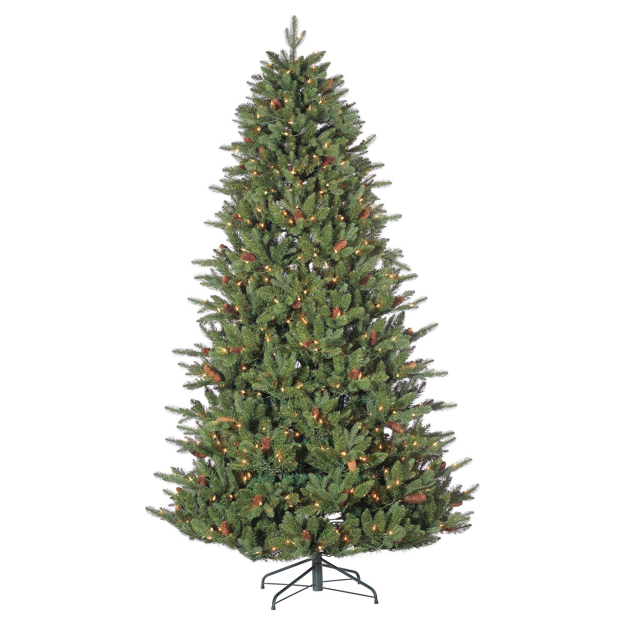 7.5ft PreLit Artificial Christmas Tree Full Glenwood Pine