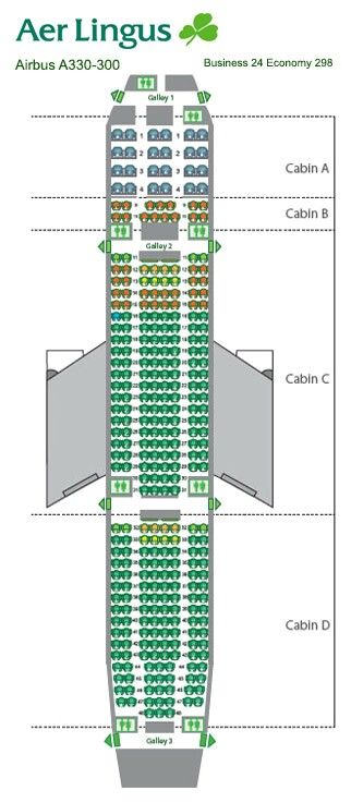 Aer Lingus Seat Map Aer Lingus A330 Seat Chart | sketch of trip to europe | Seating  Aer Lingus Seat Map