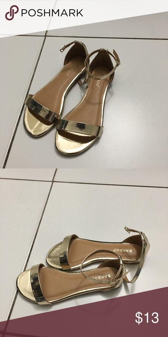 fe1e94bc03f Gold Sandals NWOB. Gold Sandals NWOB Bamboo ...