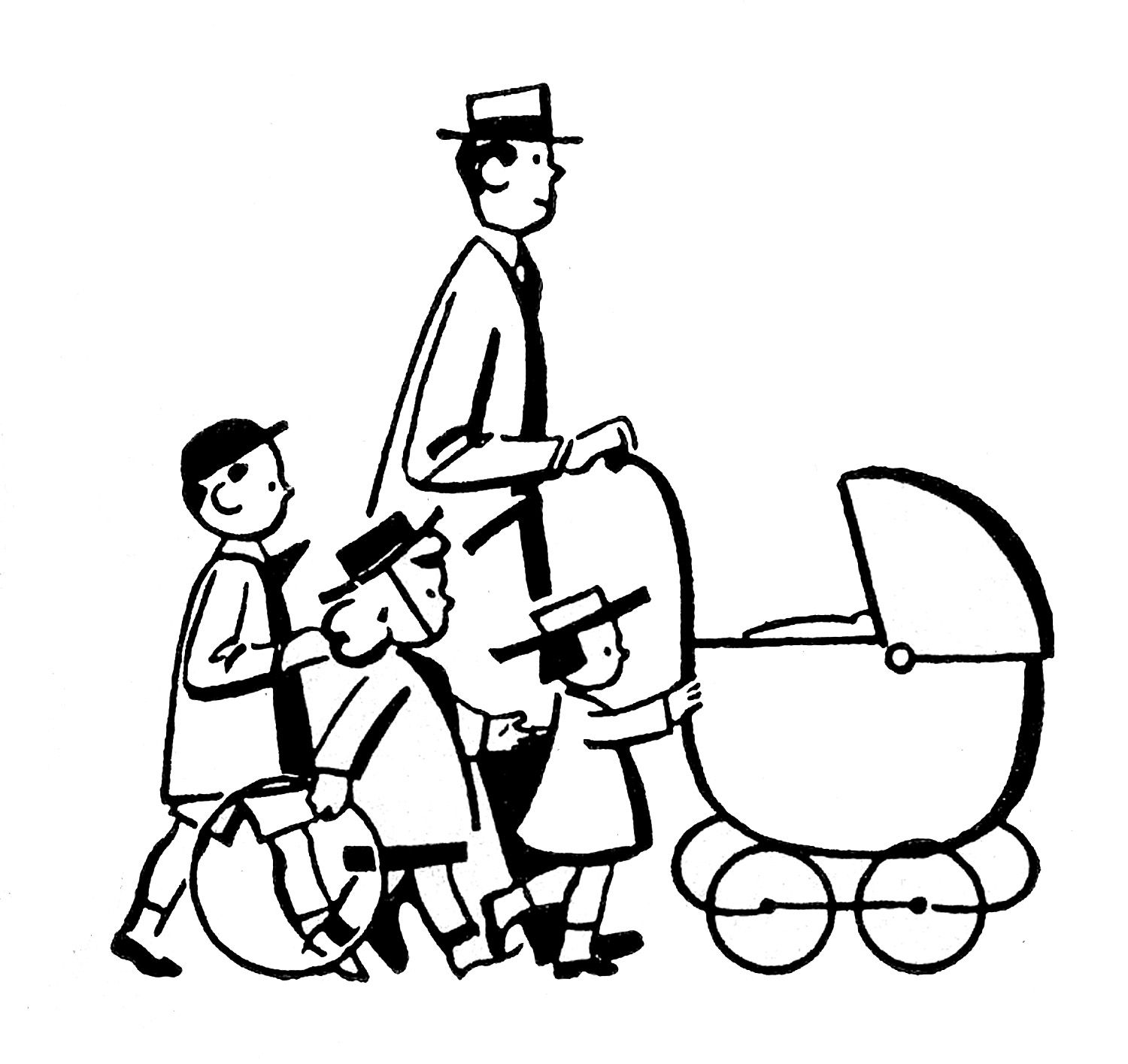 Looks - Fathers Vintage day clip art pictures video