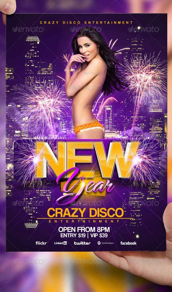 New Years Eve Flyer Template By Lordfireniantart On