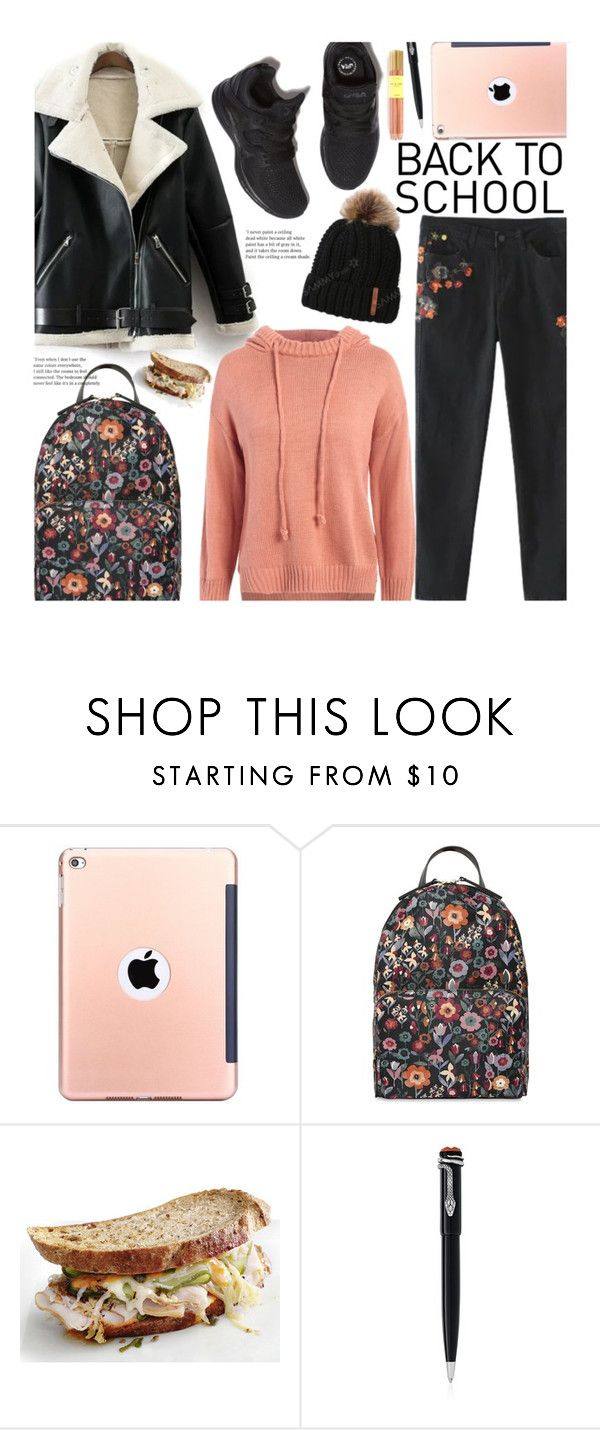 """""""School"""" by beebeely-look ❤ liked on Polyvore featuring RED Valentino, Montblanc, Fine & Candy, BackToSchool, floralprint, schoolstyle, sammydress and back2school"""