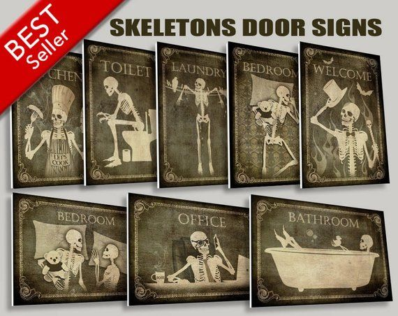 Gothic door signs to hung on your home doors,toilet sign,restroom