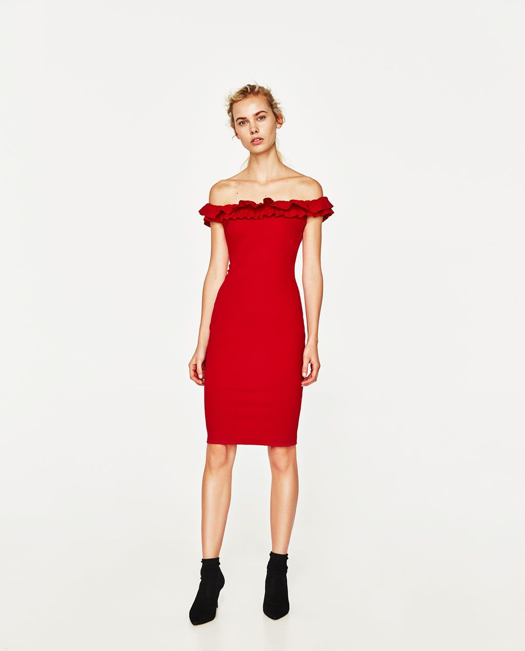 off-the shoulder dress-dresses-woman | zara united states