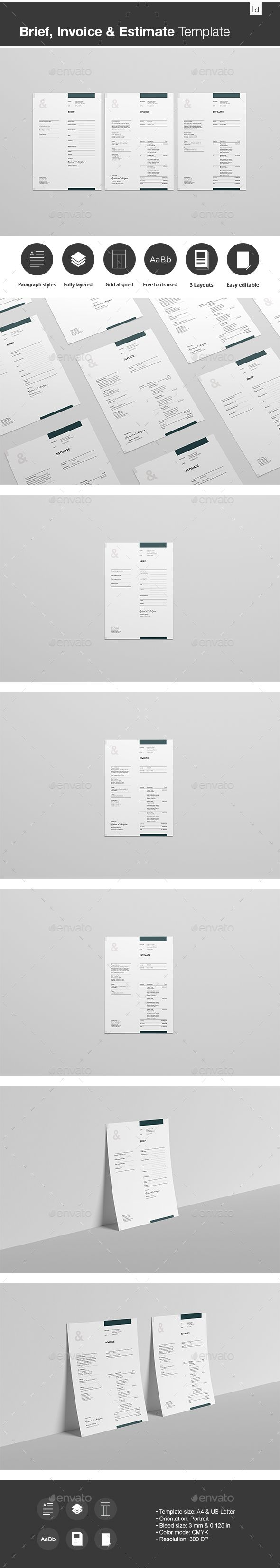 Brief Estimate And Invoice Template  Template Proposal