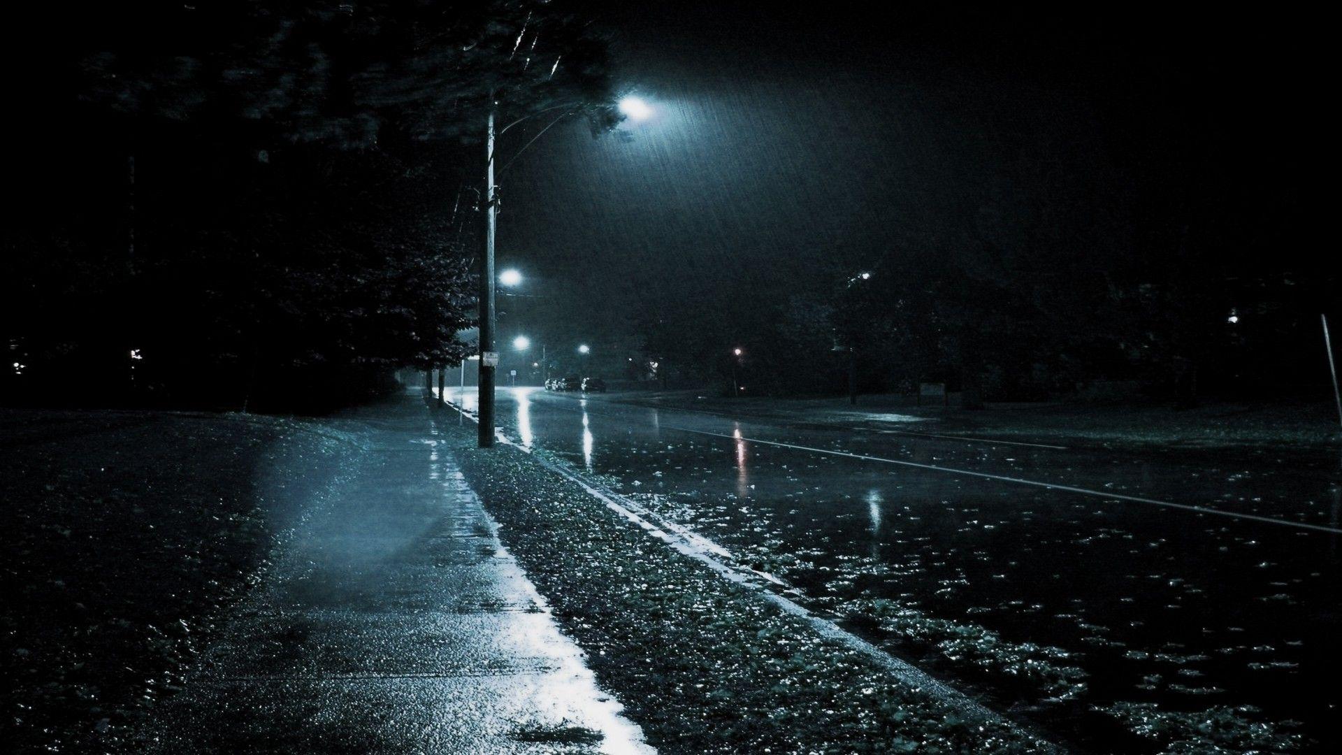 Rain On The Street 1920x1080 Rain Wallpapers Night Rain Rainy Night