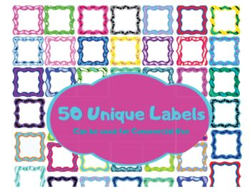 50 PNG Labels For Commercial Use