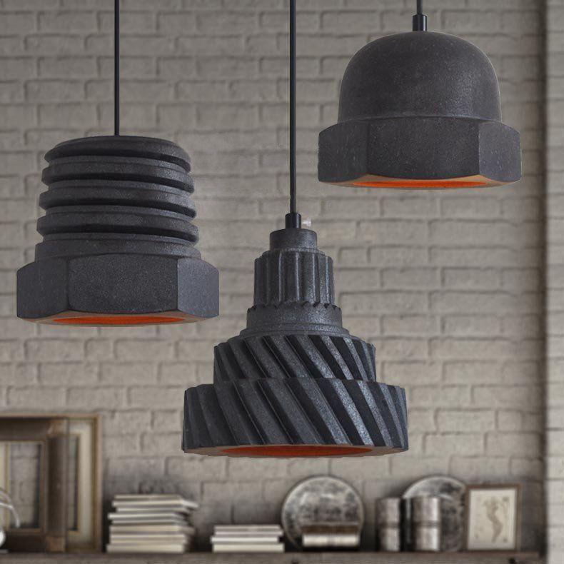 Nuts and Bolts Contemporary Pendant Light #60W #black #cafe