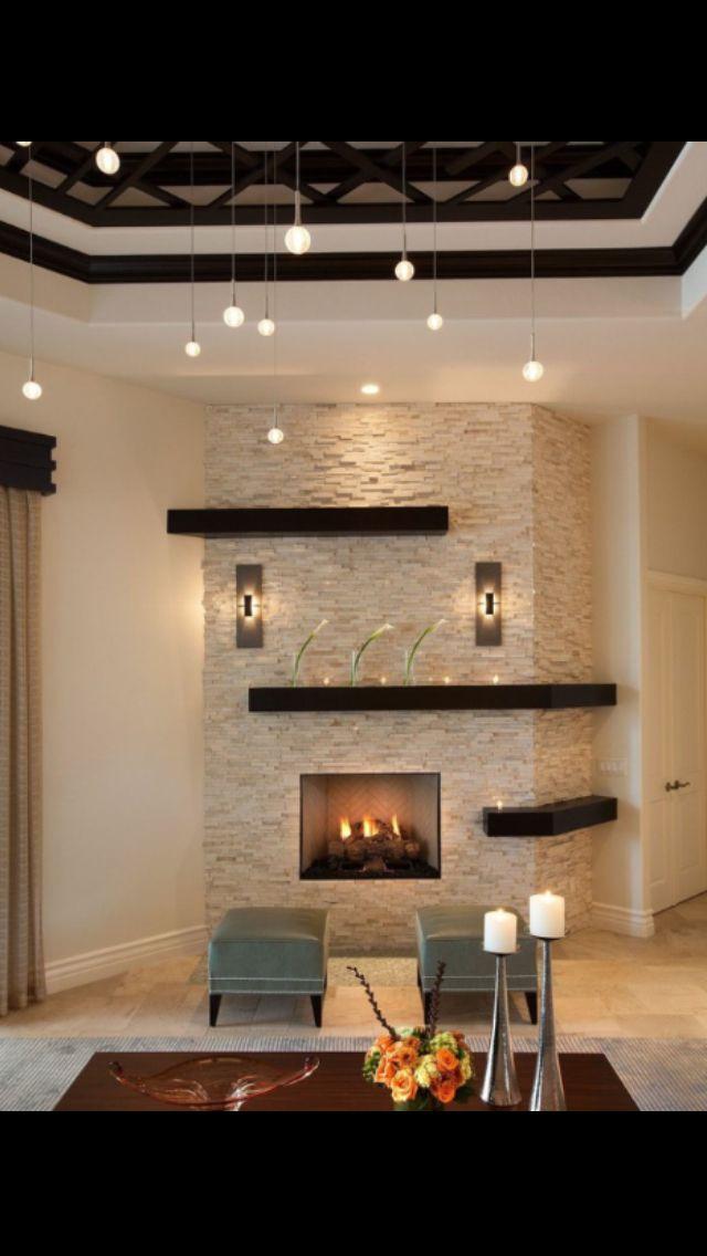 Stein wand Inspiration Pinterest Ofen, Wohnzimmer und - wohnzimmer design wand stein